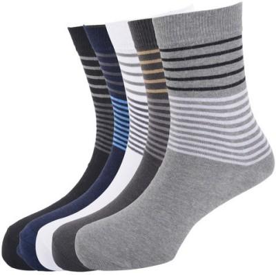 Calzini Men's Striped Glean Length Socks