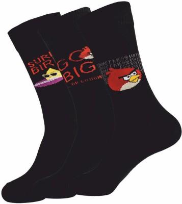 Angry Birds Premium Men's Solid Crew Length Socks