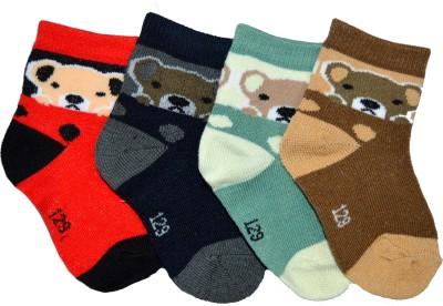 Gen Boy's Animal Print Ankle Length Socks