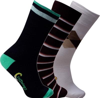 Cottstrings Men's Self Design Crew Length Socks