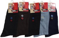 Alfa Diamond Mens Woven Mid-calf Length Socks(Pack of 5)