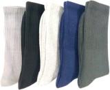 U turn Men's Solid Mid-calf Length Socks...