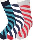 Moo Men's Striped Crew Length Socks