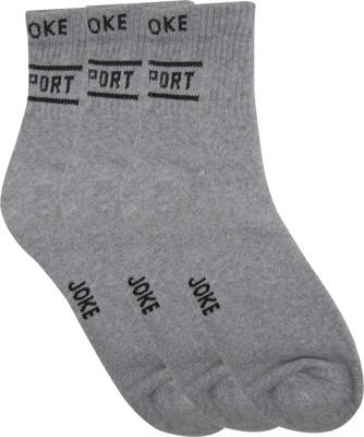 Joke Men's Solid Ankle Length Socks