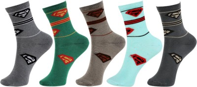 Khi Boy's Geometric Print Mid-calf Length Socks