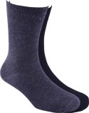 Calzini Men's Solid Crew Length Socks (P...