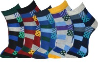 Grace excel Mens Graphic Print Ankle Length Socks(Pack of 5)