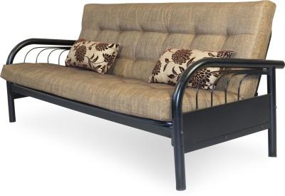 FurnitureKraft Metal Single Sofa Bed(Finish Color - Black Mechanism Type - Pull Out)