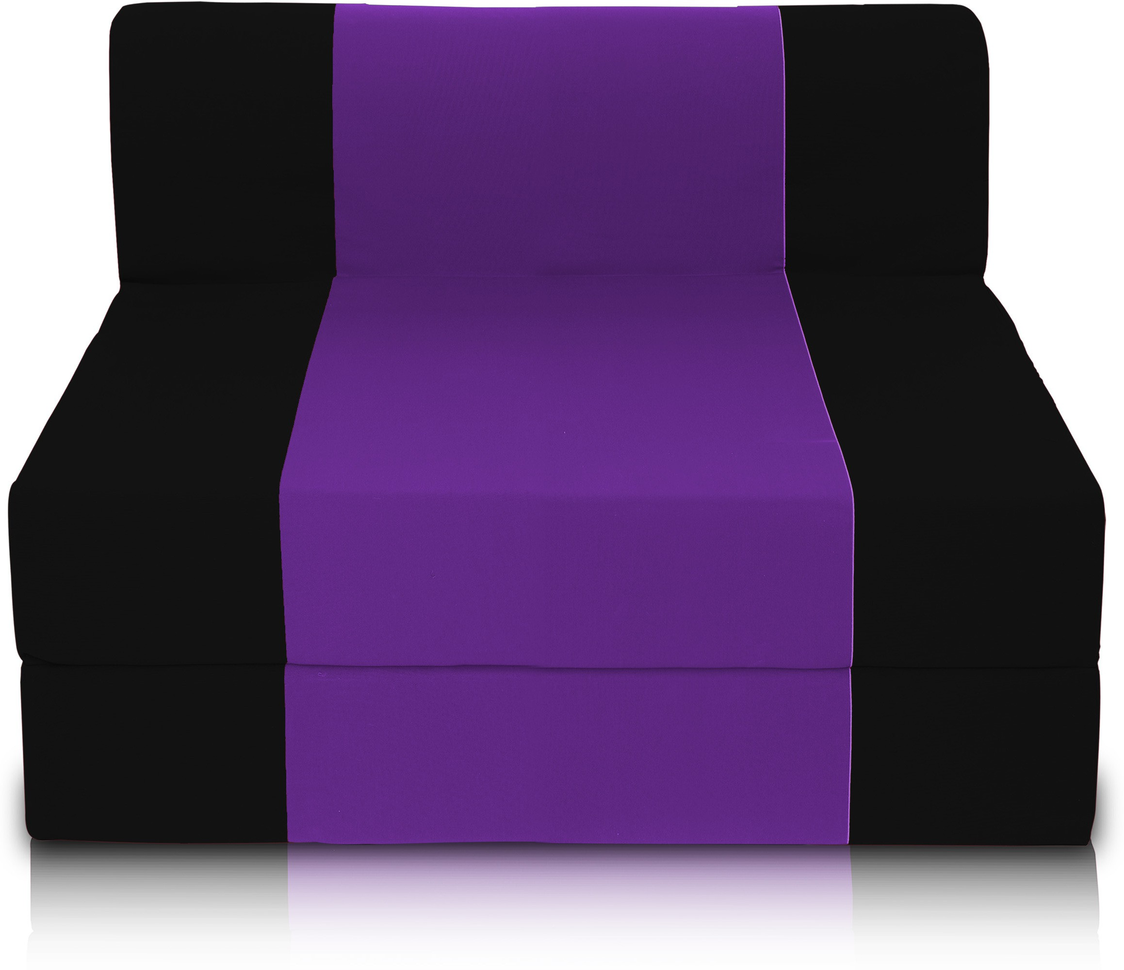 View Dolphin Bean Bags Single Fabric Sofa Bed(Finish Color - Black And Purple Mechanism Type - Fold Out) Furniture (Dolphin Bean Bags)