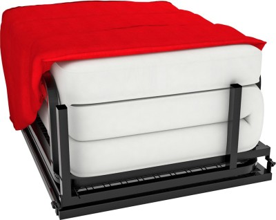 Camabeds Livean Single Foam Sofa Bed(Finish Color - Red Mechanism Type - Fold Out)