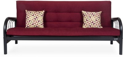 FurnitureKraft FKSCB 8051 with Maroon Mattress Metal Single Futon