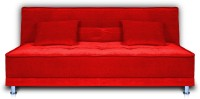 Dolphin Double Foam Sofa Bed(Finish Color - Red Mechanism Type - Fold Out)