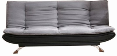 FabHomeDecor Fabric Double Sofa Bed(Finish Color - Grey-- Black Mechanism Type - Pull Out)