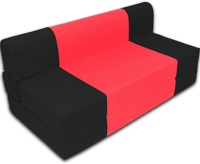 Dolphin Bean Bags Double Fabric Sofa Bed(Finish Color - Black And Red Mechanism Type - Fold Out)