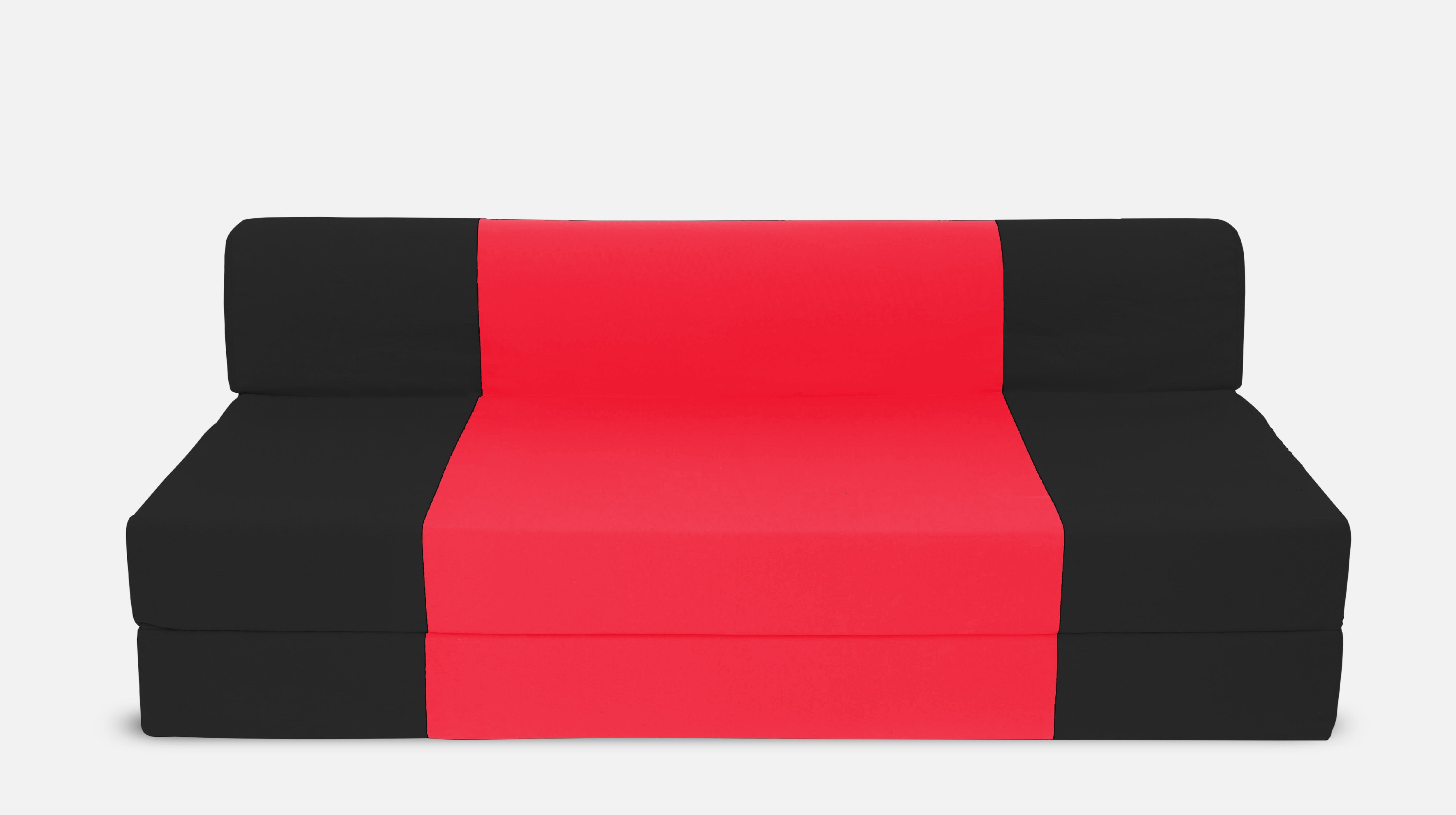 Dolphin Bean Bags Single Fabric Sofa Bed(Finish Color - Black And Red Mechanism Type - Fold Out)