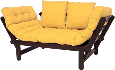 ARRA Engineered Wood Single Futon(Finish Color - Yellow Mechanism Type - Fold Out)