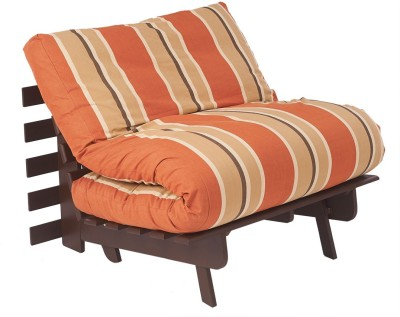 ARRA Engineered Wood Single Futon(Finish Color - Rust Lines Mechanism Type - Fold Out)