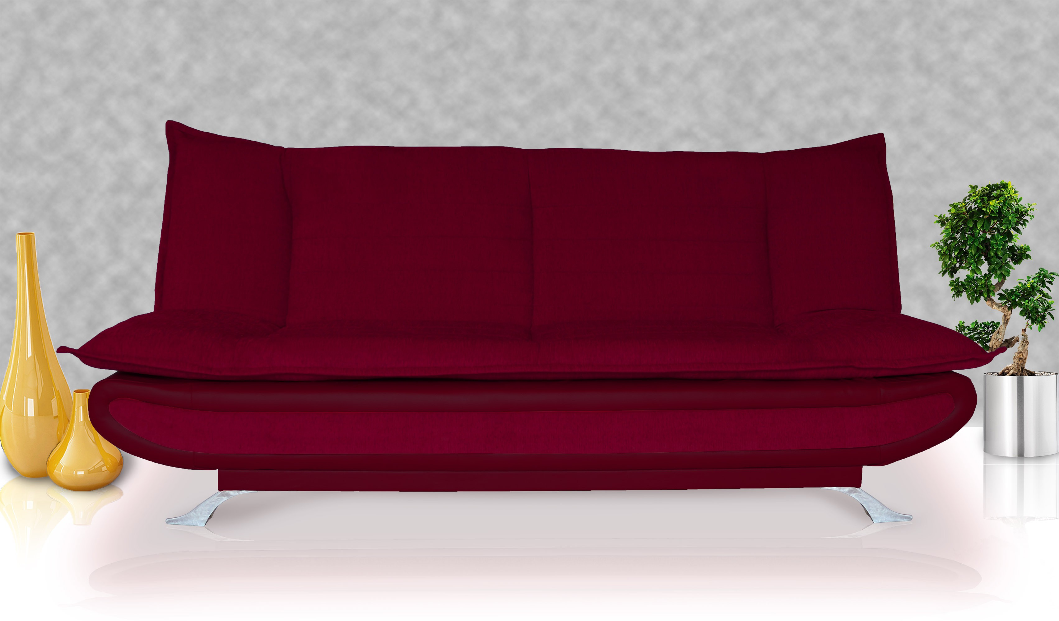 View Dolphin Double Foam Sofa Bed(Finish Color - Maroon Mechanism Type - Fold Out) Furniture (Dolphin)