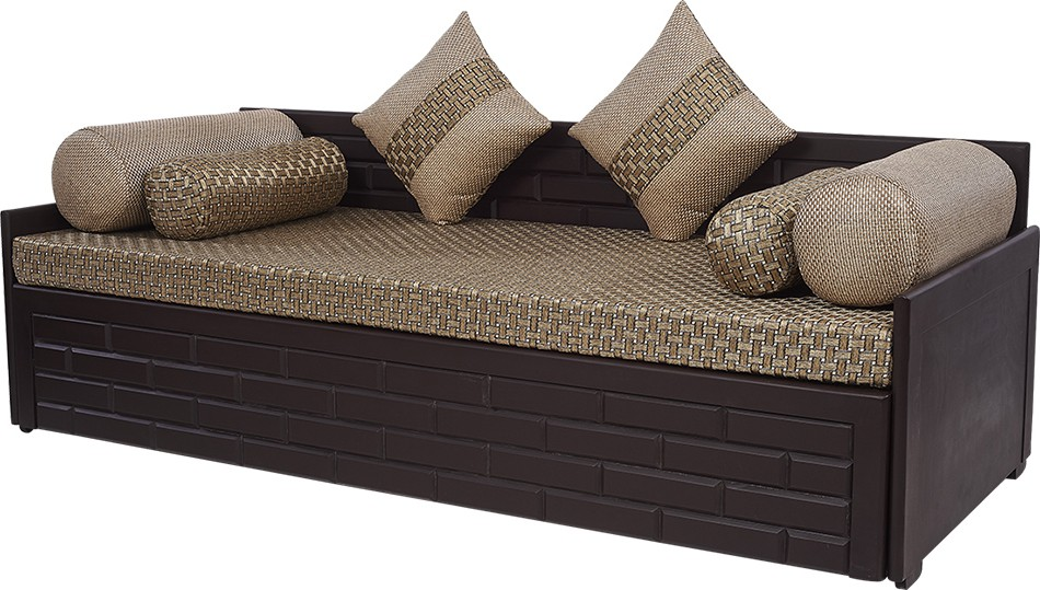 ARRA Single Fabric Sofa Bed(Finish Color - JUTE Mechanism Type - Pull Out)