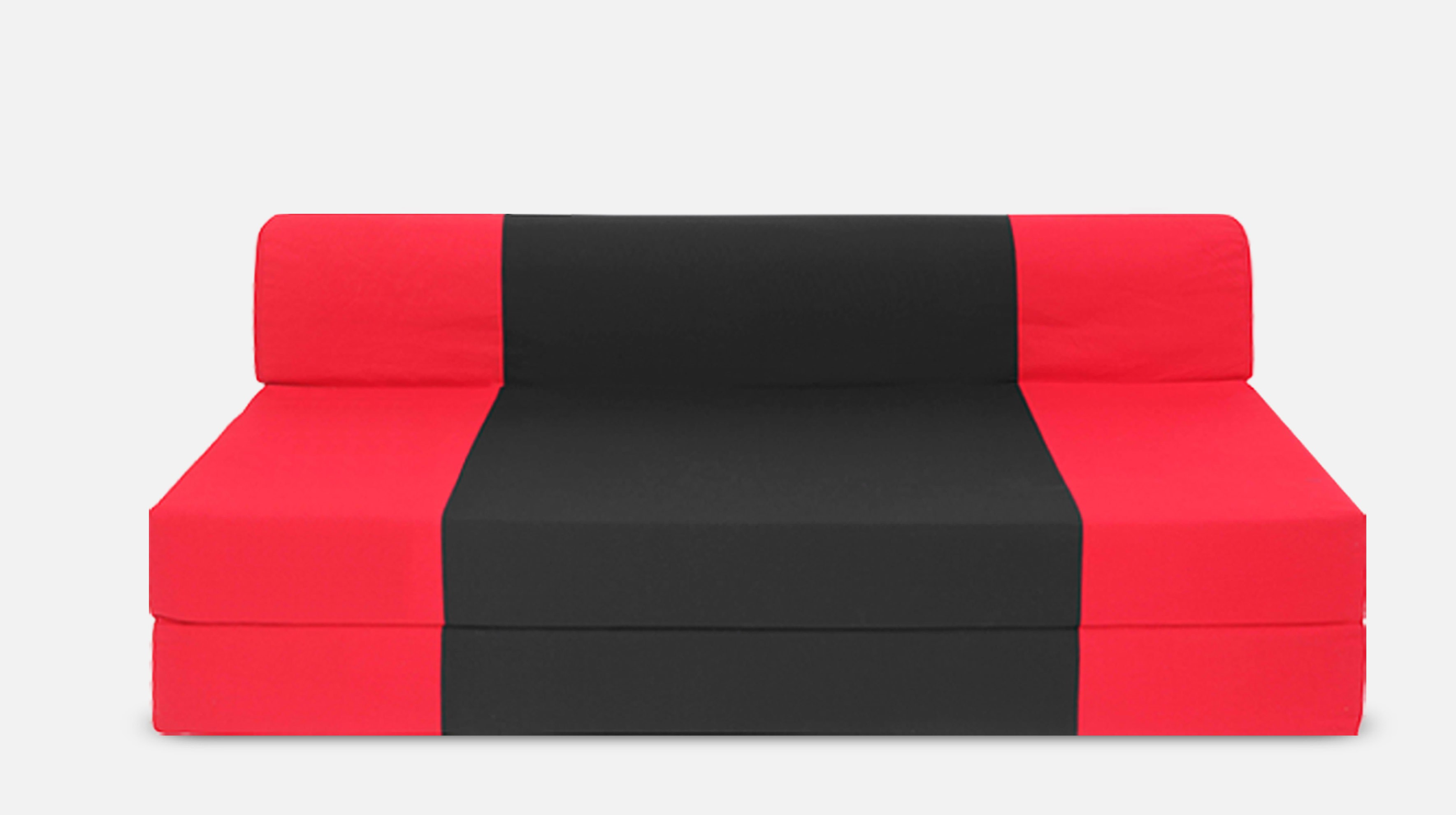 Dolphin Bean Bags Single Fabric Sofa Bed(Finish Color - Red And Black Mechanism Type - Fold Out)