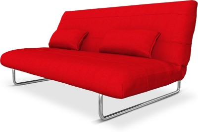 Camabeds Juliette Fabric Double Sofa Bed(Finish Color - Red Mechanism Type - Fold Out)