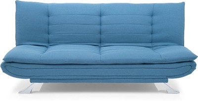 Urban Ladder Edo Engineered Wood Double Sofa Bed(Finish Color - Blue Mechanism Type - Fold Out)