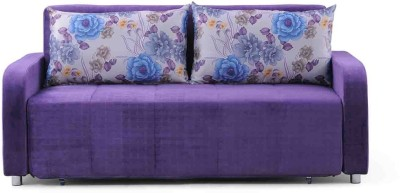 Evok Flora Fabric Single Sofa Bed(Finish Color - Purple Mechanism Type - Pull Out)