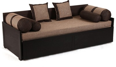 ARRA Solid Wood Single Sofa Bed(Finish Color - JUTE Mechanism Type - Pull Out)