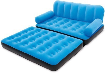 Shopper 52 New 5 In 1 Velvet Sofa Inflatable Plastic Double Sofa Bed(Mechanism Type - Fold Out)