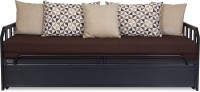 FurnitureKraft Budapest Single NA Sofa Bed(Finish Color - Black Mechanism Type - Pull Out)