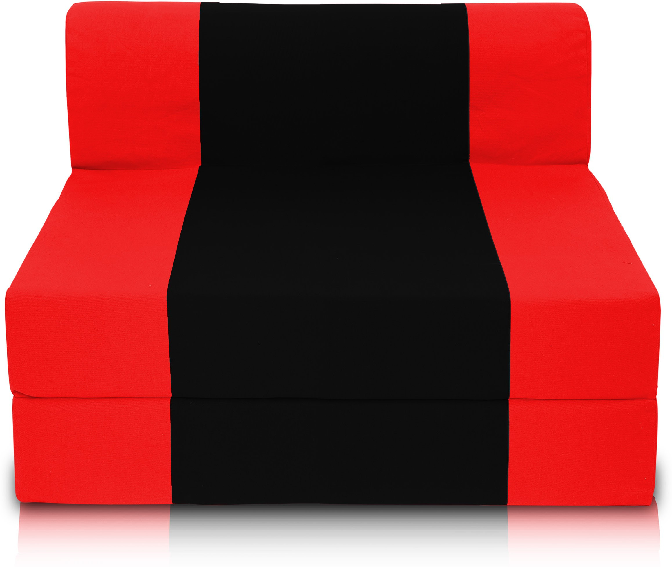 View Dolphin Bean Bags Single Fabric Sofa Bed(Finish Color - Red And Black Mechanism Type - Fold Out) Furniture (Dolphin Bean Bags)