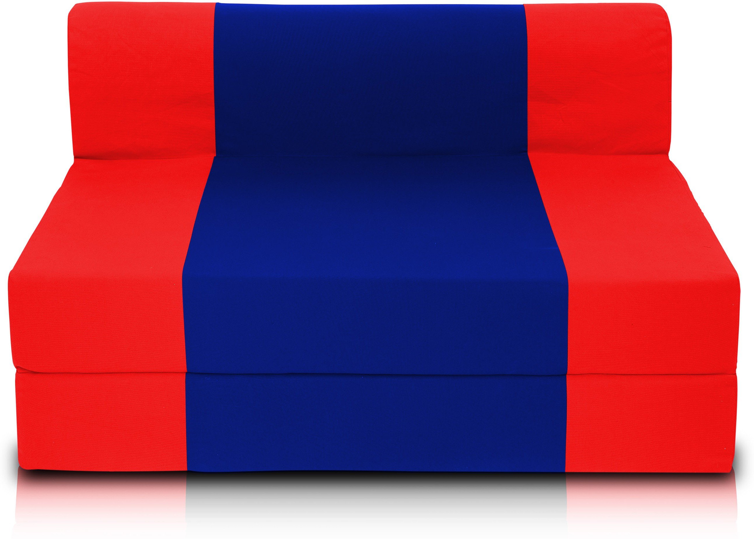 View Dolphin Bean Bags Single Fabric Sofa Bed(Finish Color - Red And R.Blue Mechanism Type - Fold Out) Furniture (Dolphin Bean Bags)