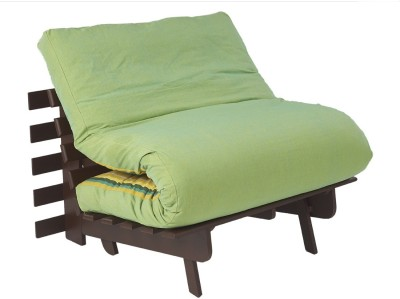 ARRA Engineered Wood Single Futon(Finish Color - Fluorscent Green Mechanism Type - Fold Out)