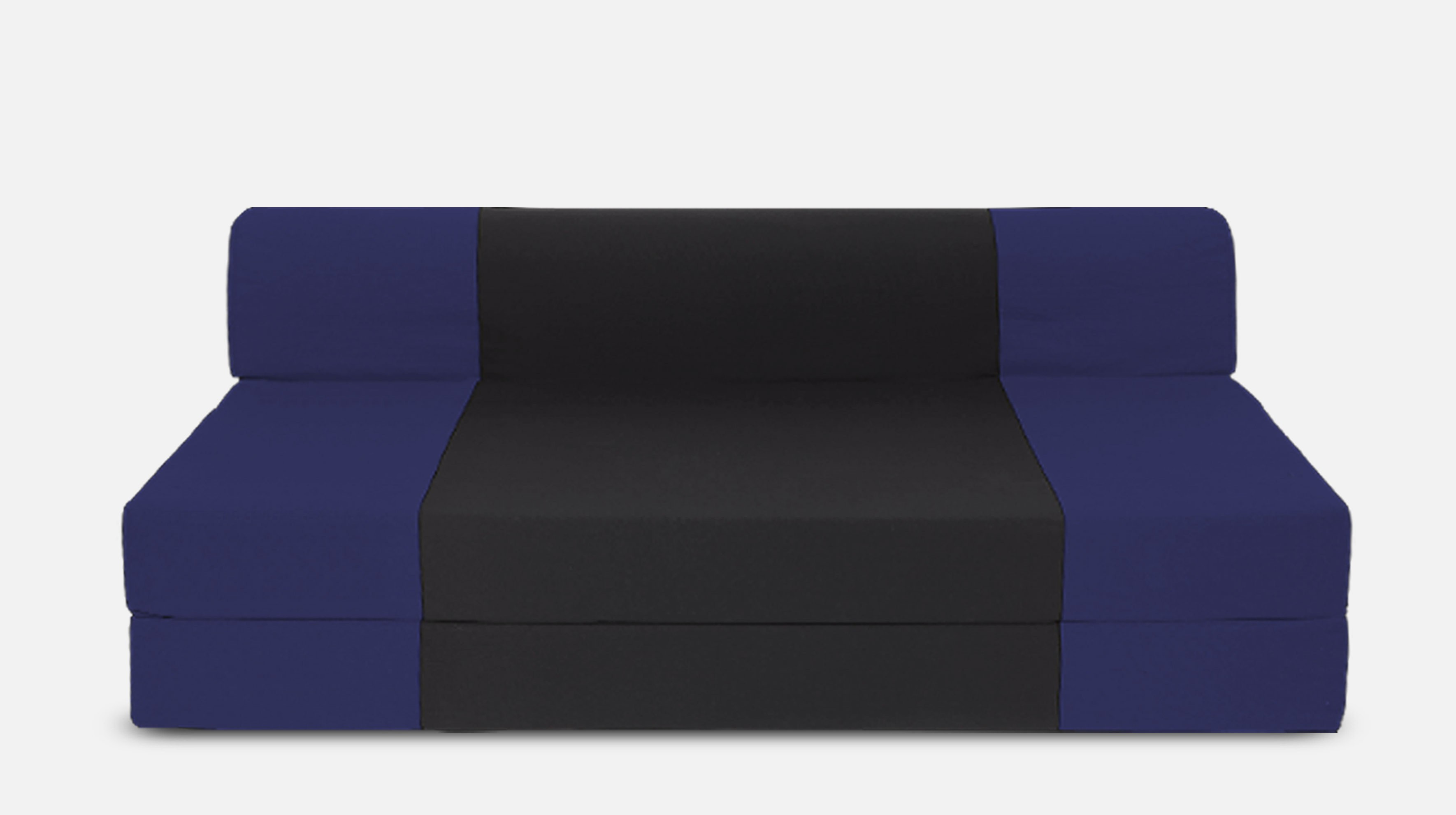 View Dolphin Bean Bags Double Fabric Sofa Bed(Finish Color - Black And N.Blue Mechanism Type - Fold Out) Furniture (Dolphin Bean Bags)