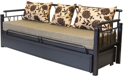 FurnitureKraft Metal Single Sofa Bed