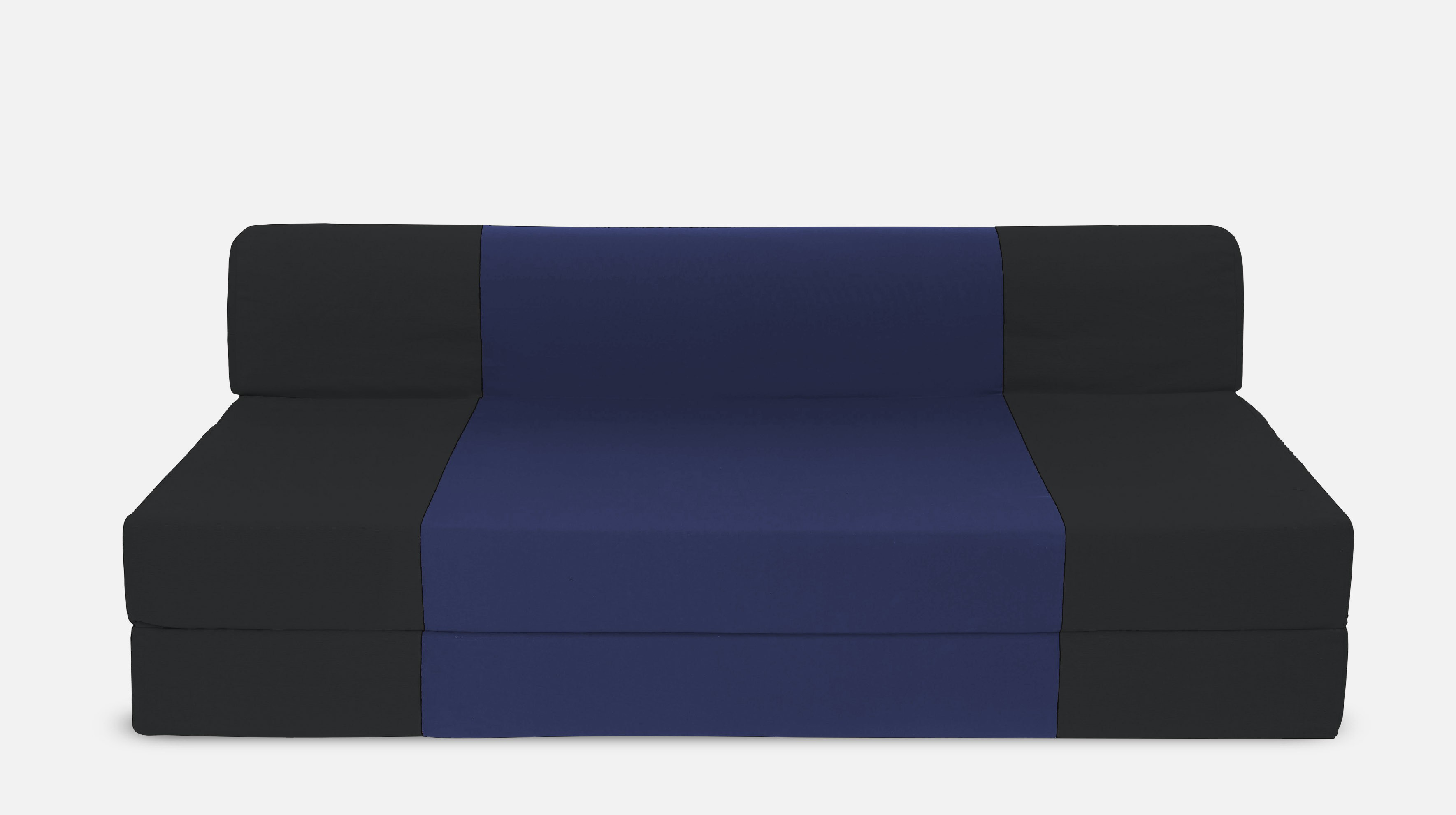 Dolphin Bean Bags Single Fabric Sofa Bed(Finish Color - Black And N.Blue Mechanism Type - Fold Out)