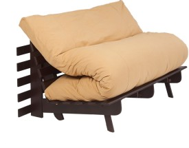 ARRA Engineered Wood Single Futon(Finish Color - Light Brown Mechanism Type - Fold Out)