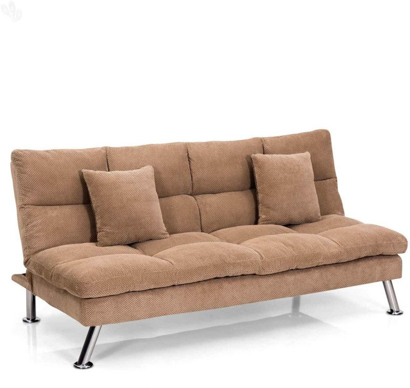 Royal Oak Milan Fabric Single Sofa Bed(Finish Color - Brown Mechanism Type - Fold Out)