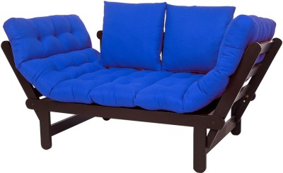 ARRA Engineered Wood Single Futon(Finish Color - Blue Mechanism Type - Fold Out)