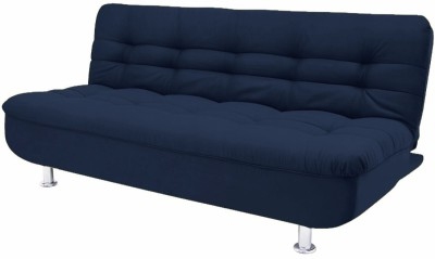 Fabhomedecor Hugo Solid Wood Double Sofa Bed(Finish Color - Dark Blue Mechanism Type - Fold Out)