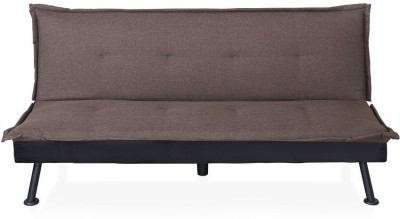@home by Nilkamal Enzo Metal Double Sofa Bed(Finish Color - Brown Mechanism Type - Fold Out)
