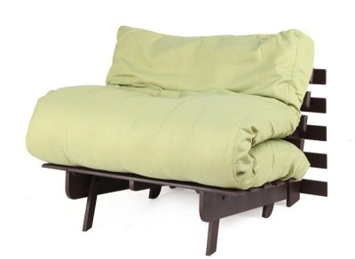 ARRA Engineered Wood Single Futon(Finish Color - Green Mechanism Type - Fold Out)