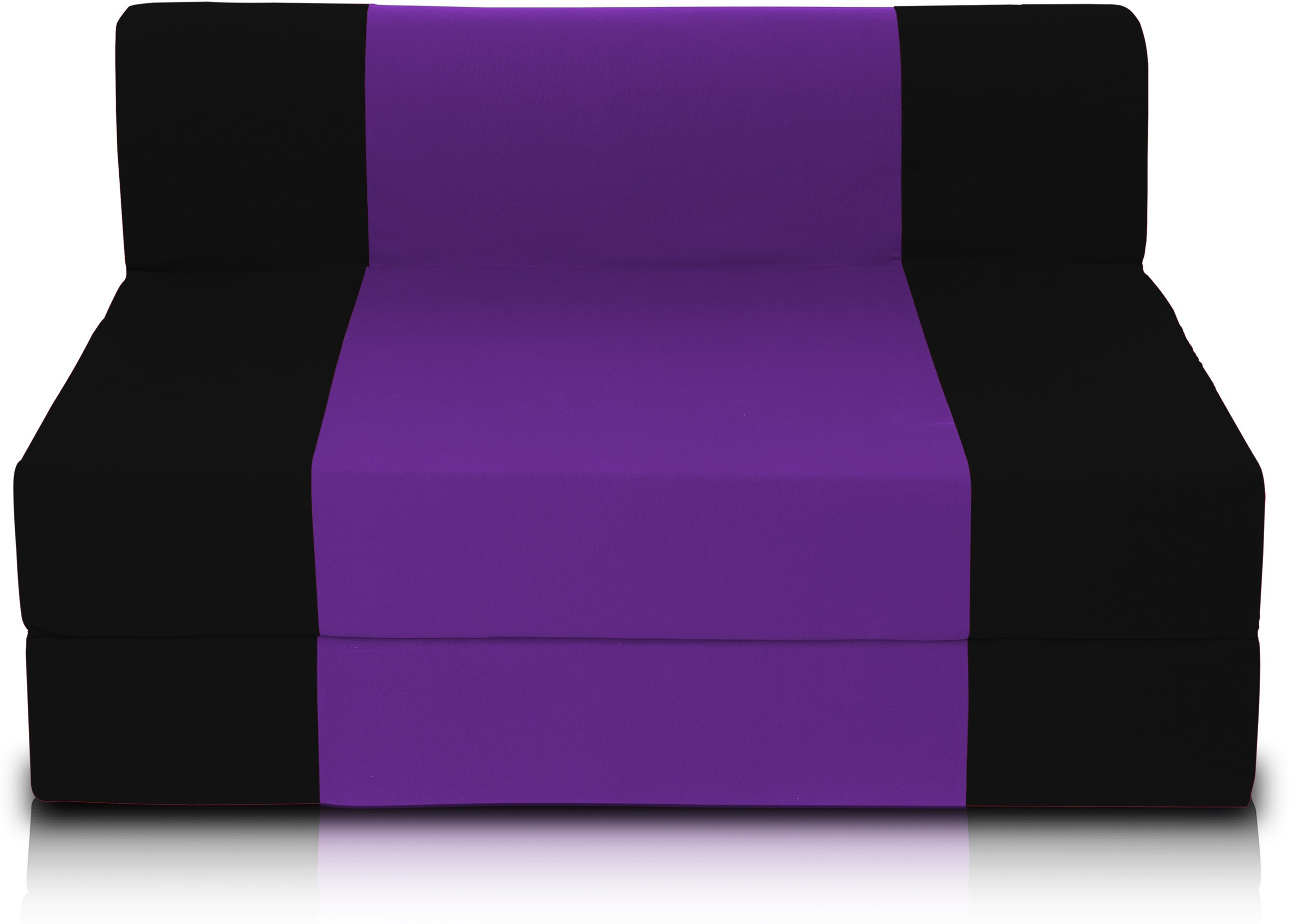 Dolphin Bean Bags Single Fabric Sofa Bed(Finish Color - Black And Purple Mechanism Type - Fold Out)