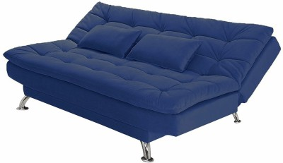 Fabhomedecor Katy Solid Wood Double Sofa Bed(Finish Color - Dark Blue Mechanism Type - Fold Out)