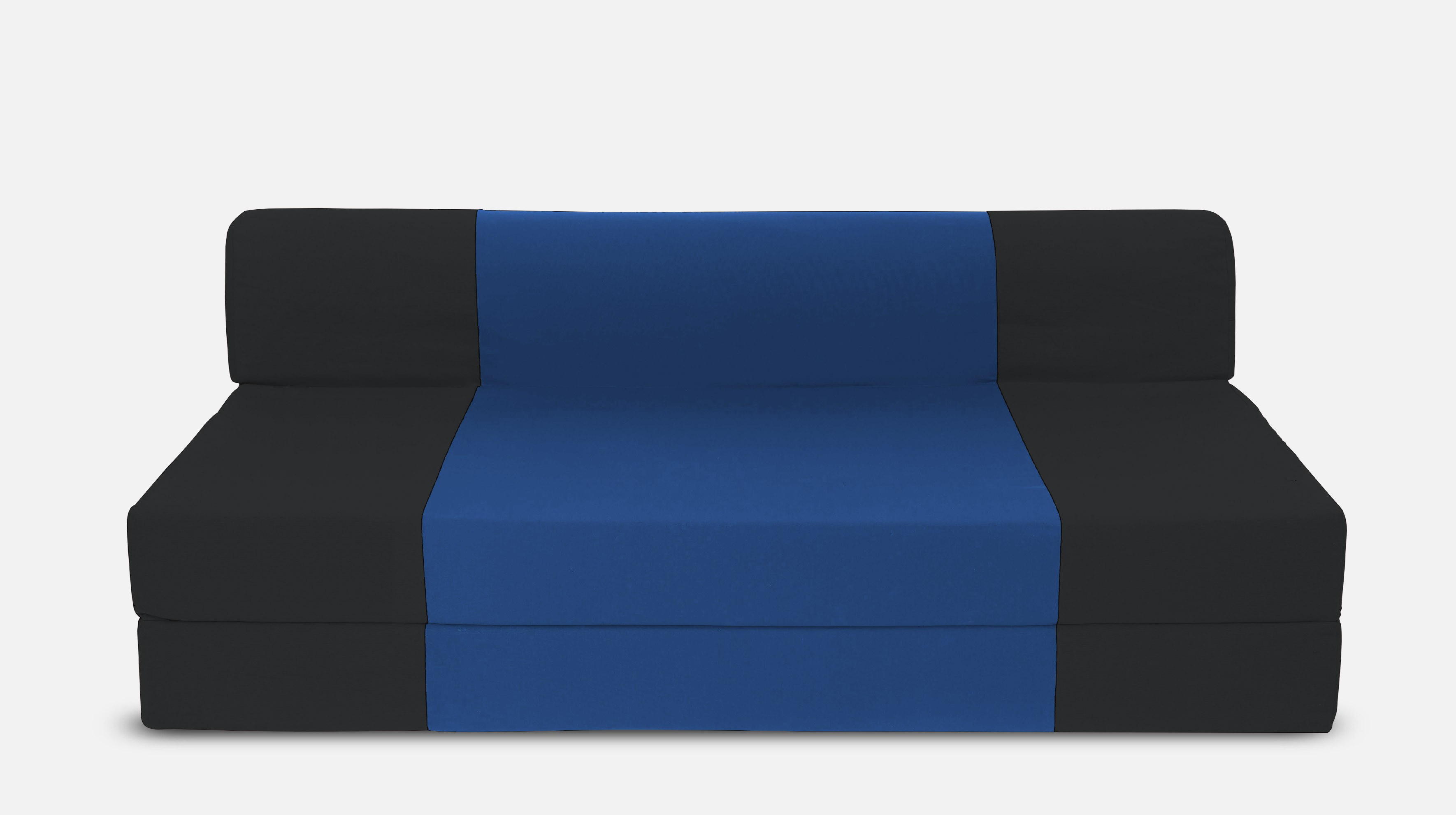 Dolphin Bean Bags Single Fabric Sofa Bed(Finish Color - Black And R.Blue Mechanism Type - Fold Out)