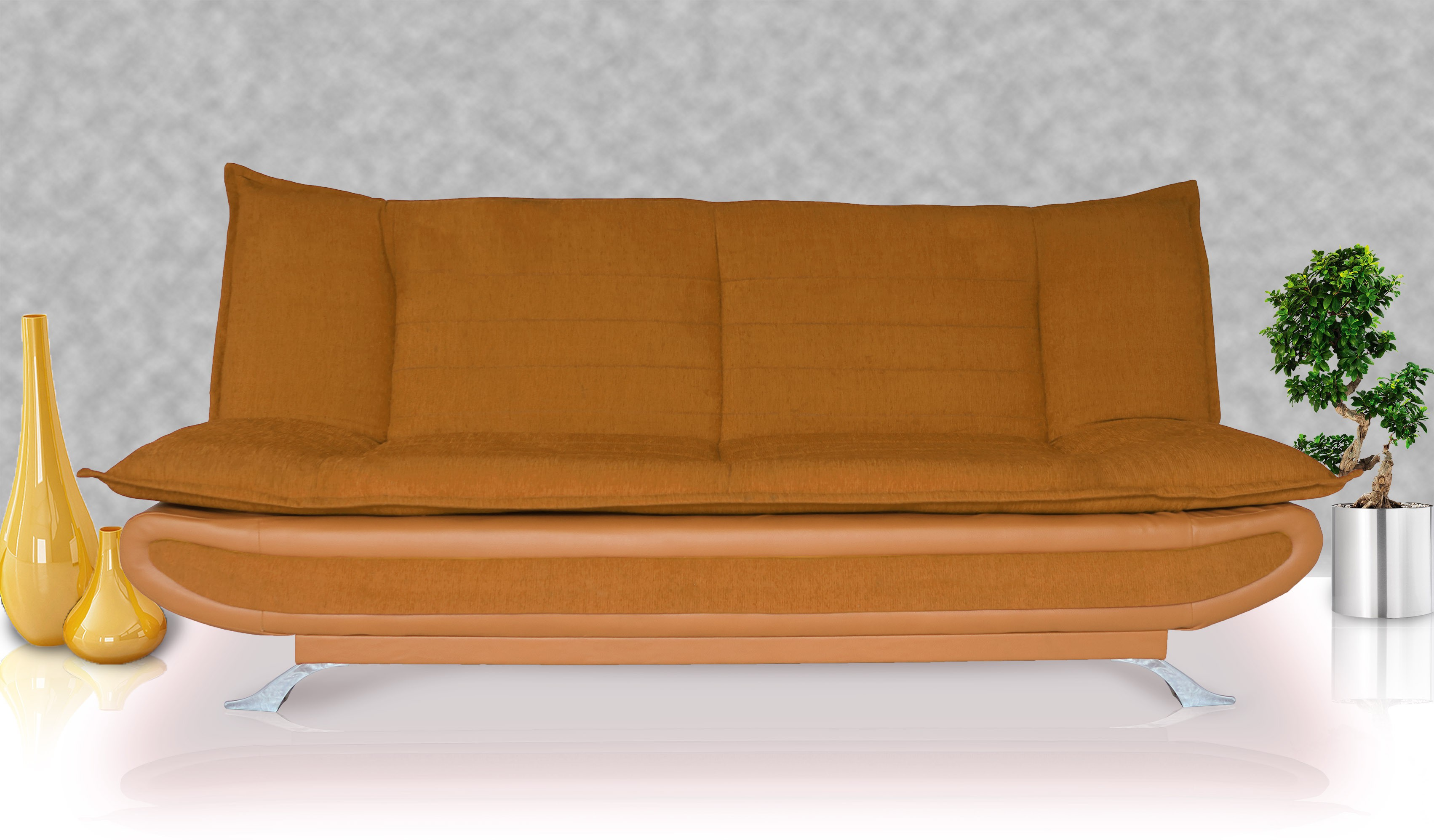 View Dolphin Double Foam Sofa Bed(Finish Color - Fawn Mechanism Type - Fold Out) Furniture (Dolphin)
