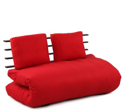 ARRA Engineered Wood Single Futon(Finish Color - RED Mechanism Type - Fold Out)
