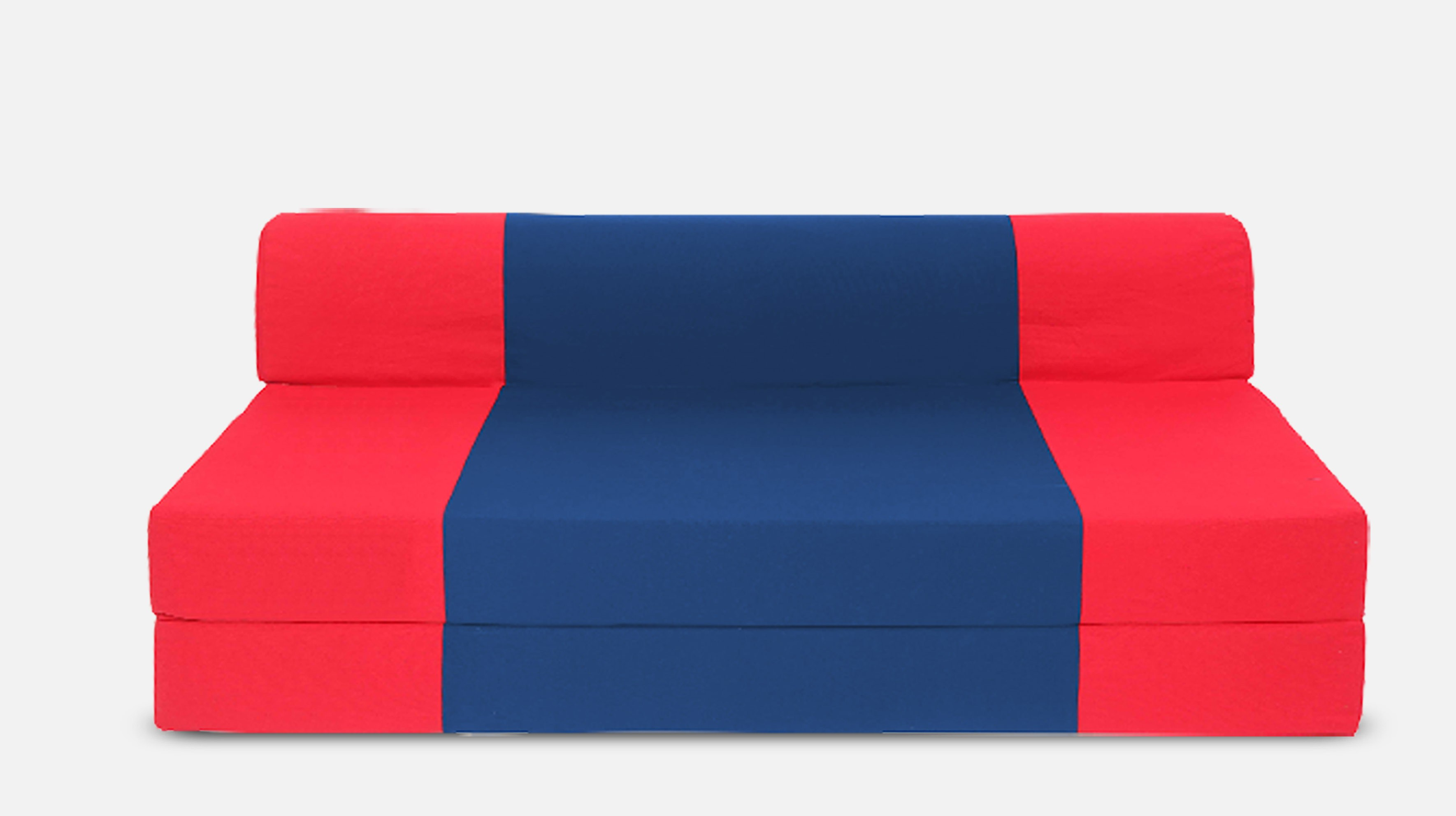 Dolphin Bean Bags Double Fabric Sofa Bed(Finish Color - Red And R.Blue Mechanism Type - Fold Out)