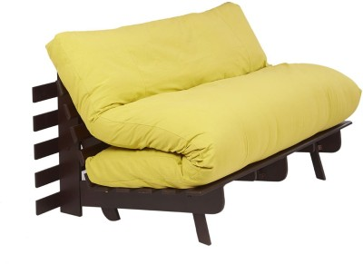 ARRA Engineered Wood Single Futon(Finish Color - Lemon Yellow Mechanism Type - Fold Out)