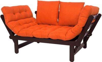 ARRA Engineered Wood Single Futon(Finish Color - Orange Mechanism Type - Fold Out)